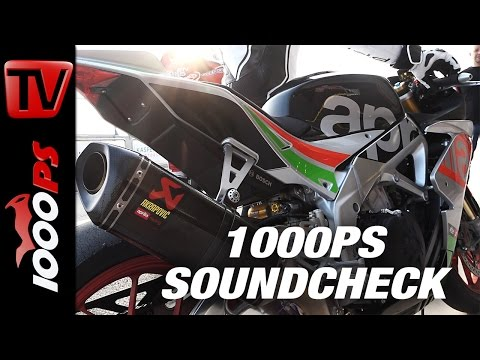 1000PS Soundcheck - Aprilia RSV4 RF 2017 - Standard Exhaust vs Akrapovic - Drive by