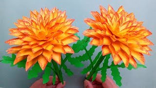 How to Make Beautiful Flower with Paper - Very easy paper flowers decoration