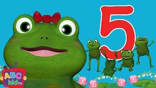 Five Little Frogs Jumping on the Bed   CoCoMelon Nursery Rhymes & Kids Songs