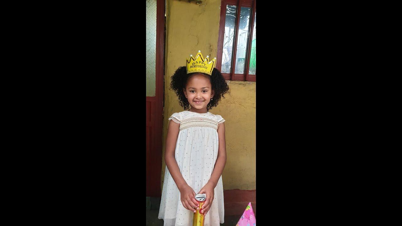 Young Ethiopian Actress Makeble Eight Years old birthday