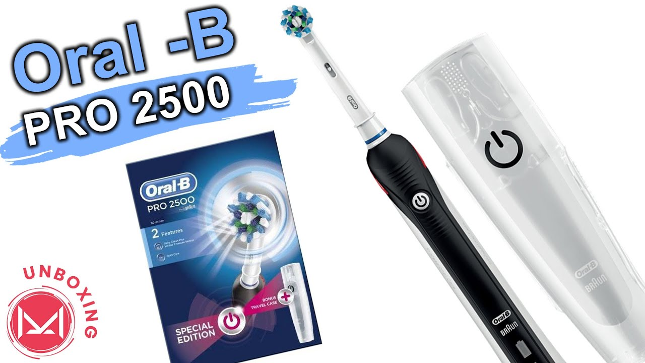 Oral B PRO 2500 3D ELECTRIC TOOTHBRUSH - YouTube eda5646f68fc
