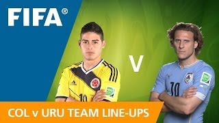 Colombia v. Uruguay - Team Line-ups EXCLUSIVE