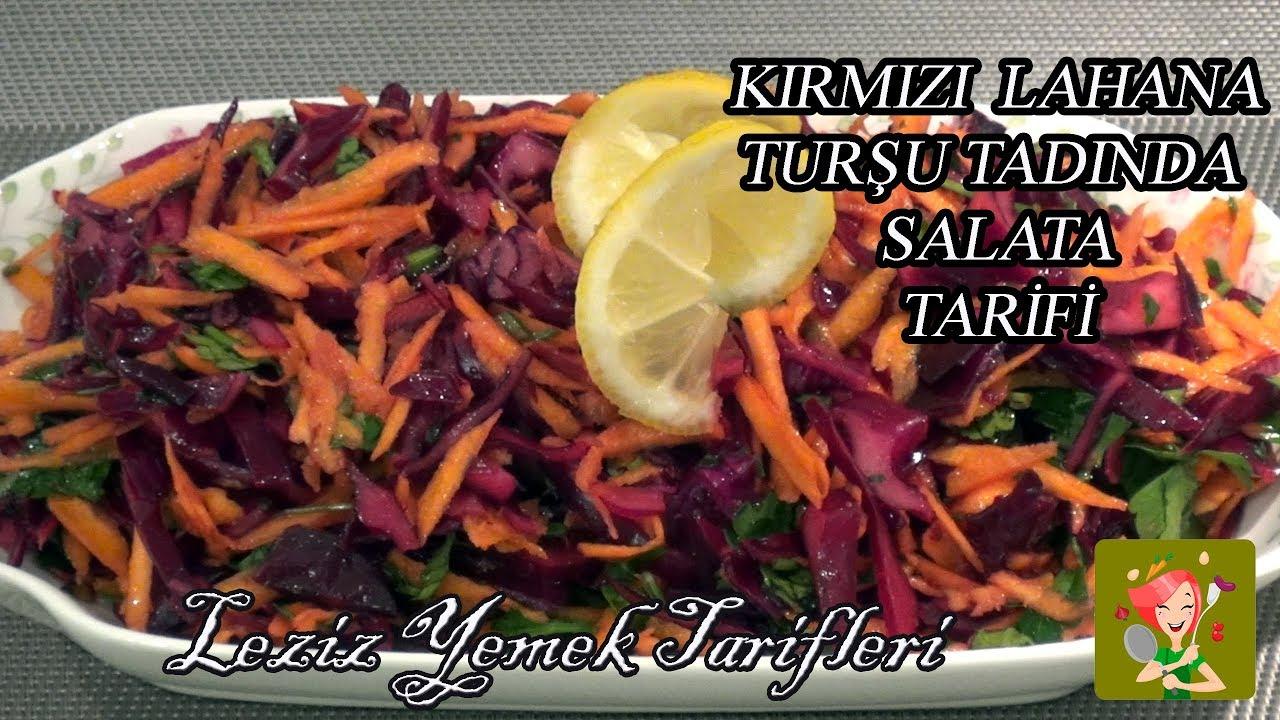 Turşu Tadında Mor Lahana Salatası Videosu