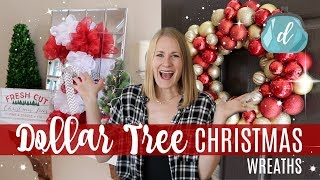 DOLLAR TREE CHRISTMAS DIYS  Classy & Easy Wreaths 2017!