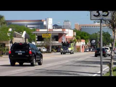 Orlando International Airport Fire Rescue - Rescue 88 Responding