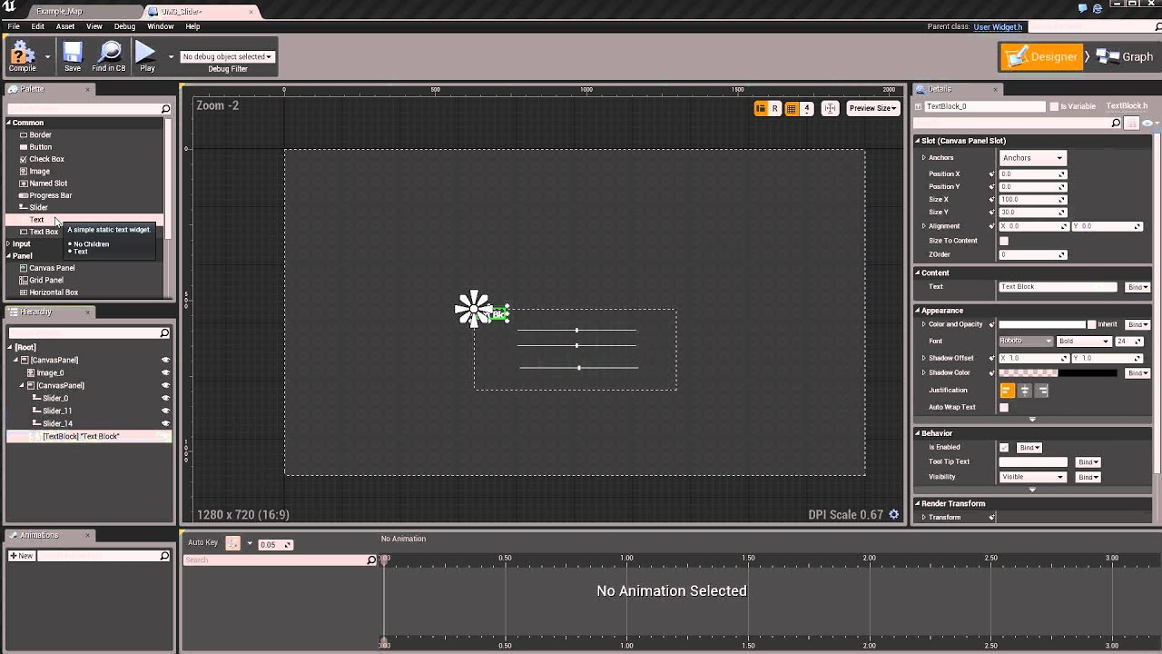 Unreal Engine 4 UMG Slider