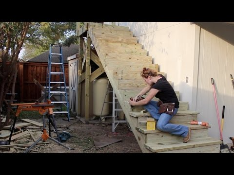 Building a Large Outdoor Staircase