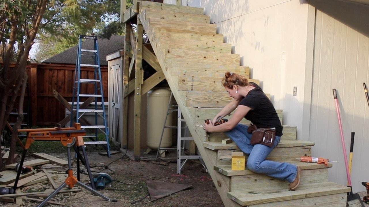 Building A Large Outdoor Staircase Doovi
