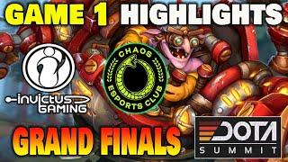 INVICTUS GAMING VS CHAOS GAME 1 Dota Summit 11 Grand Finals