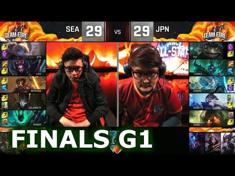 Japan vs SEA Game 1 Normal Mode | Grand Finals 2016 LoL IWC All-Stars Day 4 | Fire vs ICE