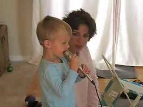 Zachary and Mom Karaoke
