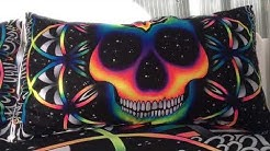 Bedding Set Queen Colorful Skull Duvet Cover Galaxy Mandala Gothic