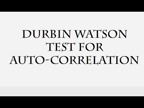 Durbin Watson Test For Auto Correlation