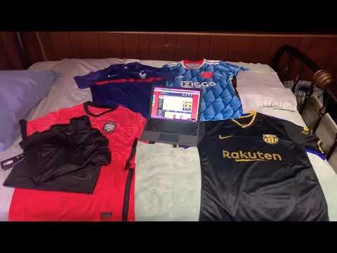 Minejerseys 20/21 Barcelona jerseys, Ajax player version, France, & South Korea kit Unboxing Review
