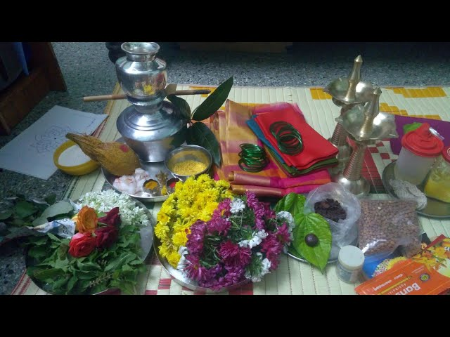 Preparation a day before varamahalakshmi.