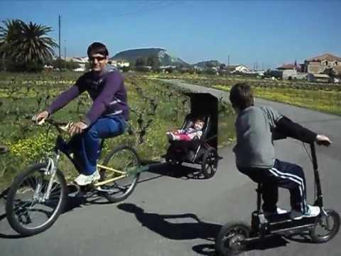 Αυτοσχέδια κατασκευή- baby-trailer !!!(www.augoustinosvillas.gr)