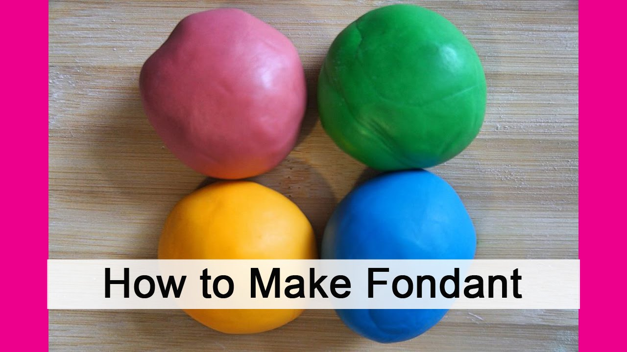 Making Homemade Fondant in Minutes - YouTube