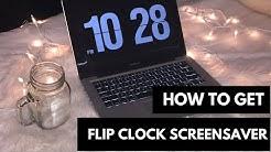 How to Get Flip Clock Screensaver (Mac & Windows)