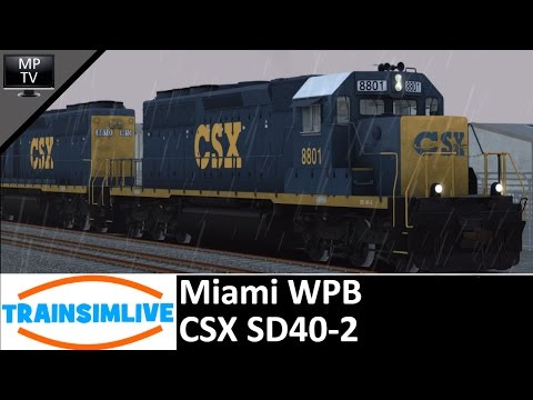 MattPlaysTV - Train Simulator - Miami West Palm Beach, CSX SD40-2