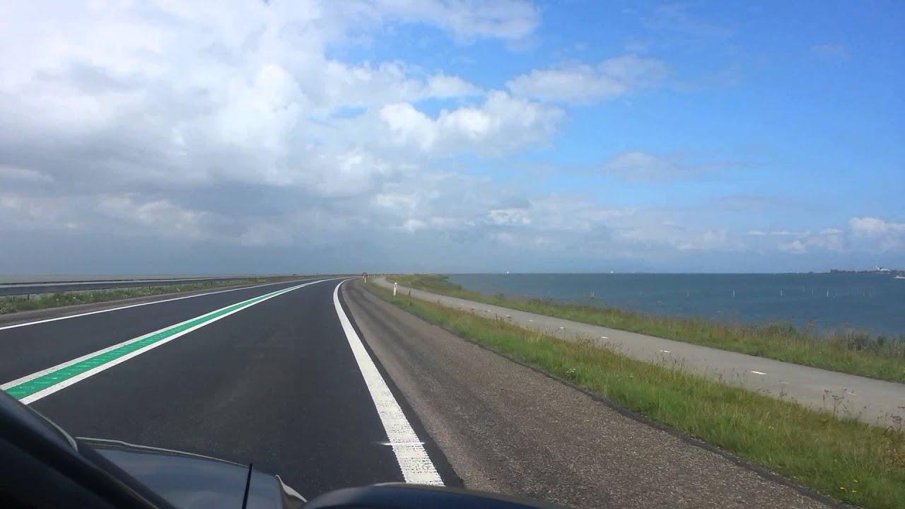 Houtribdijk road Netherlands YouTube