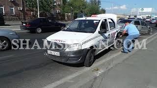 Ավտովթար Երևանում  Ոստիկանության N զորամասի մոտ բախվել են Opel ն ու Renault տաքսին