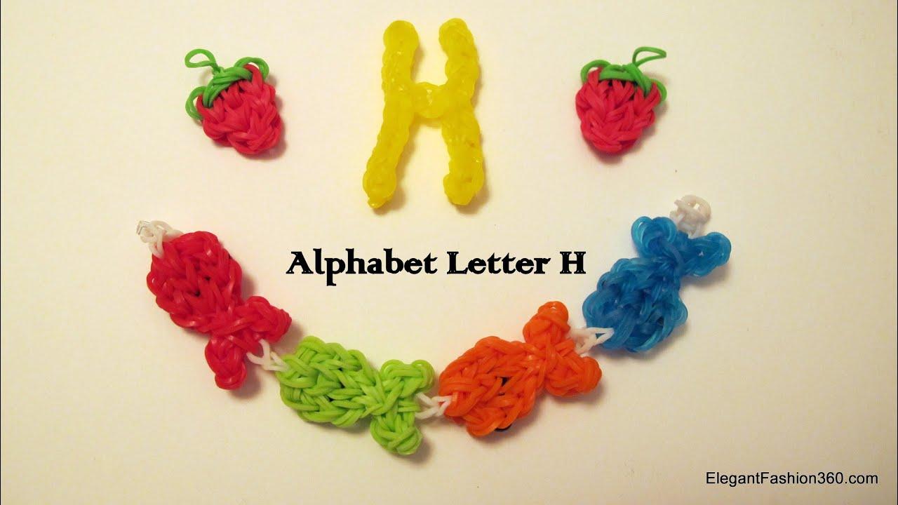 How to make alphabet letter H charm