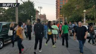 Протесты в американском Сент Луисе