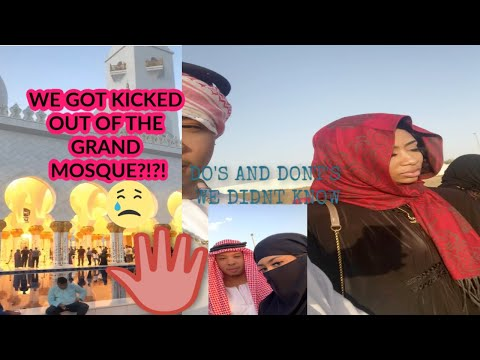 We got KICKED OUT of the Grand Mosque in DUBAI?!?😱
