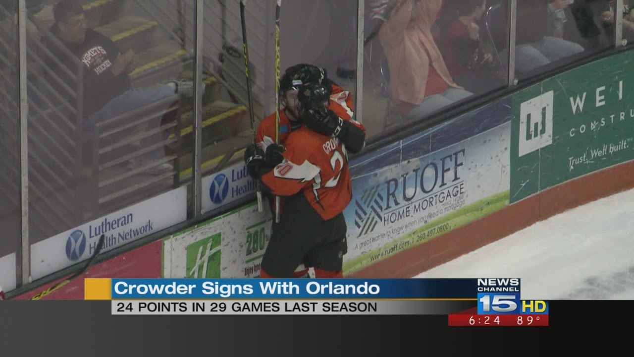 Ruoff Solar Paul Crowder Signs With Orlando Solar Bears