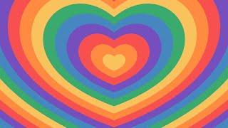🌈 Rainbow Growing 💗 Hearts Tunnel Zoom Ripple Pulse Motion Graphics Background Video TikTok Trend