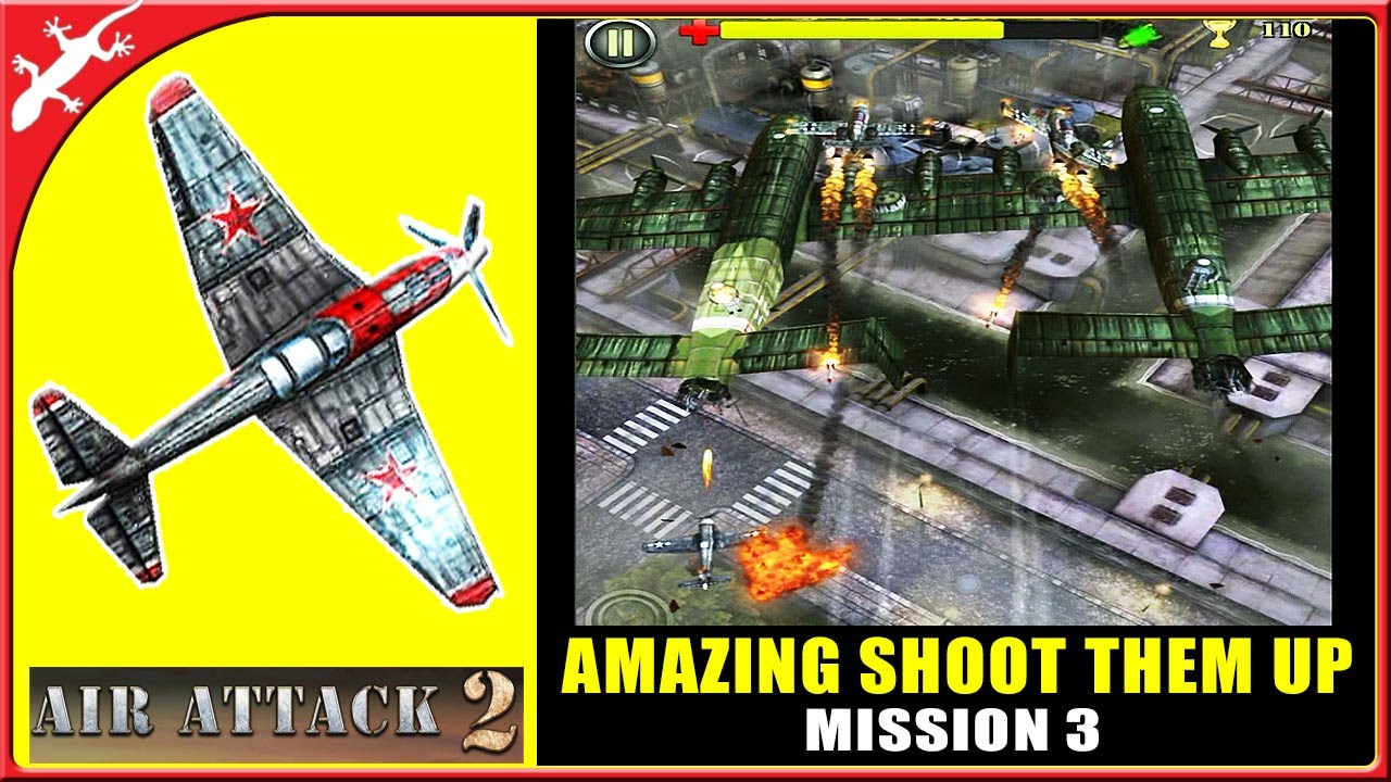 AirAttack 2 Mission 3 - Amazing Shoot Them Up ! (ios Gameplay)