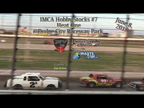 IMCA Hobby Stocks #7, Heat 1, Dodge City Raceway Park, 06/08/18