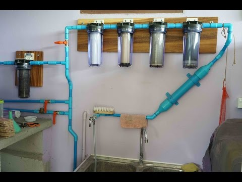 Homemade drinking water filter system