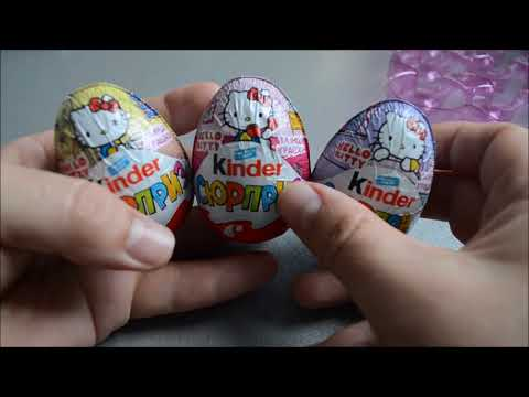 NEW 2017! Kinder Сюрприз Hello Kitty. Surprise eggs. Новое издание. Ukraine