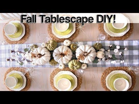 Fall Tablescape 2019 Ideas ⭐ Decorate with me ⭐ Fall Farmhouse Table Decor