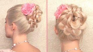 Праздничная/вечерняя/свадебная причёска на длинные волосы, своими руками, быстрая и легкая(В этом видео я пользуюсь накладными прядями на заколках http://www.GlamTimeHair.com о которых подробно рассказываю..., 2013-10-14T15:09:21.000Z)
