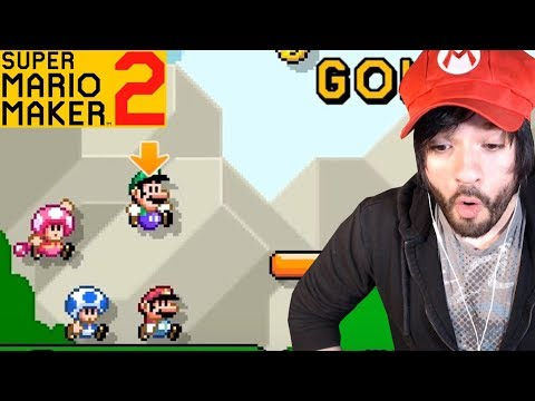 REACCIÓN MODO HISTORIA Y MULTIPLAYER!!! 😮 Super Mario Maker 2 - En español por ZetaSSJ