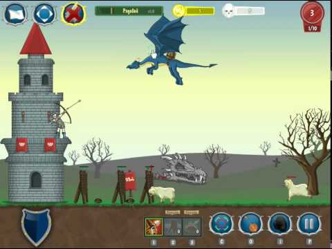 игра TD Защита башни приложение в контакте