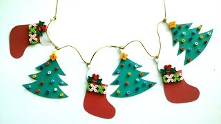 Christmas Decorating Ideas: DIY Quilling Paper Christmas Garland