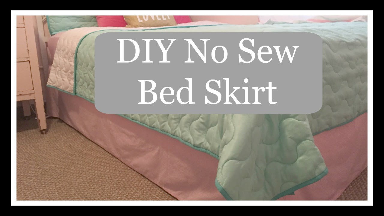 Diy No Sew Bedskirt On The Cheap Youtube