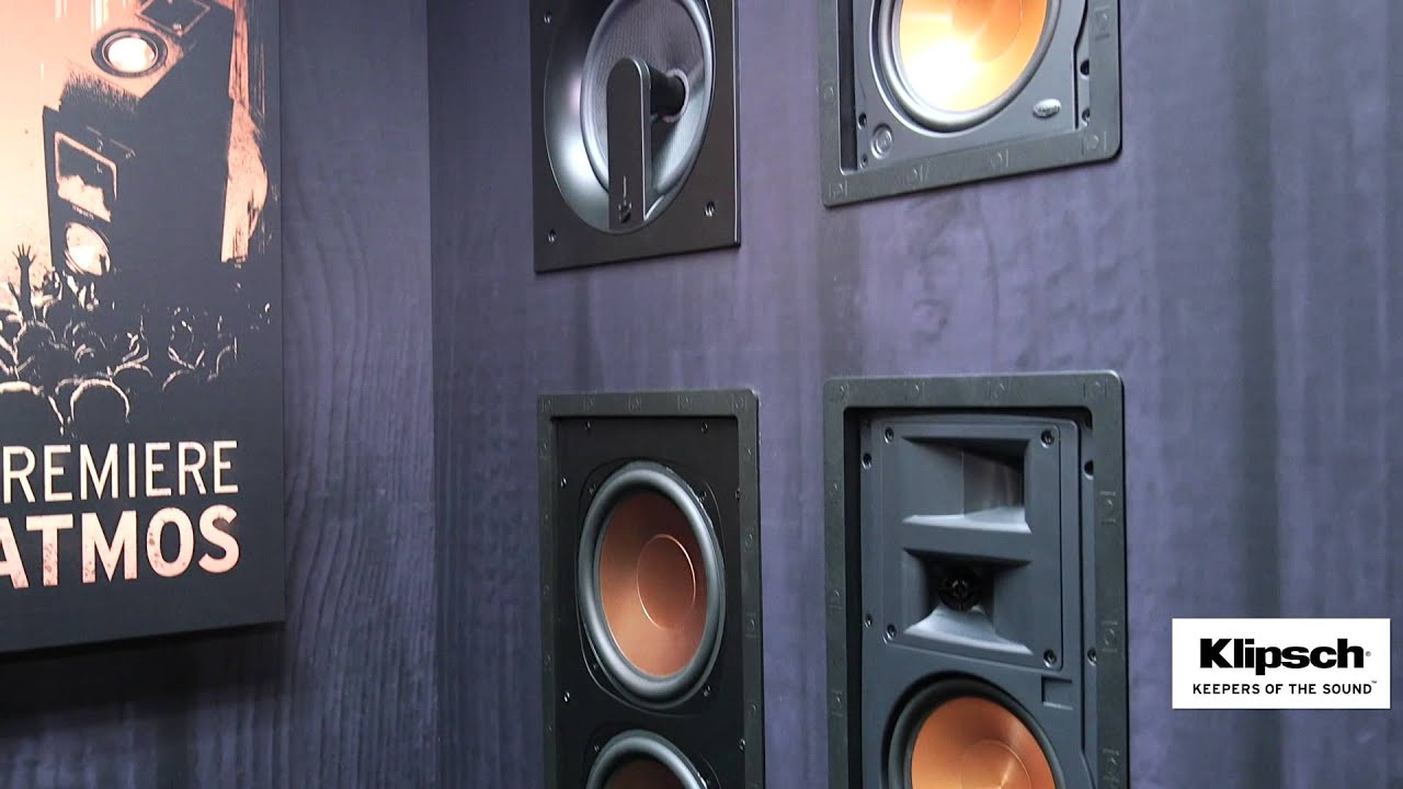 In Wall Home Theater Speakers cedia 2015 video: klipsch reveals architectural thx in-wall