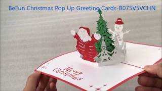 BeFun Christmas Pop up Greeting Cards-B075V5VCHN