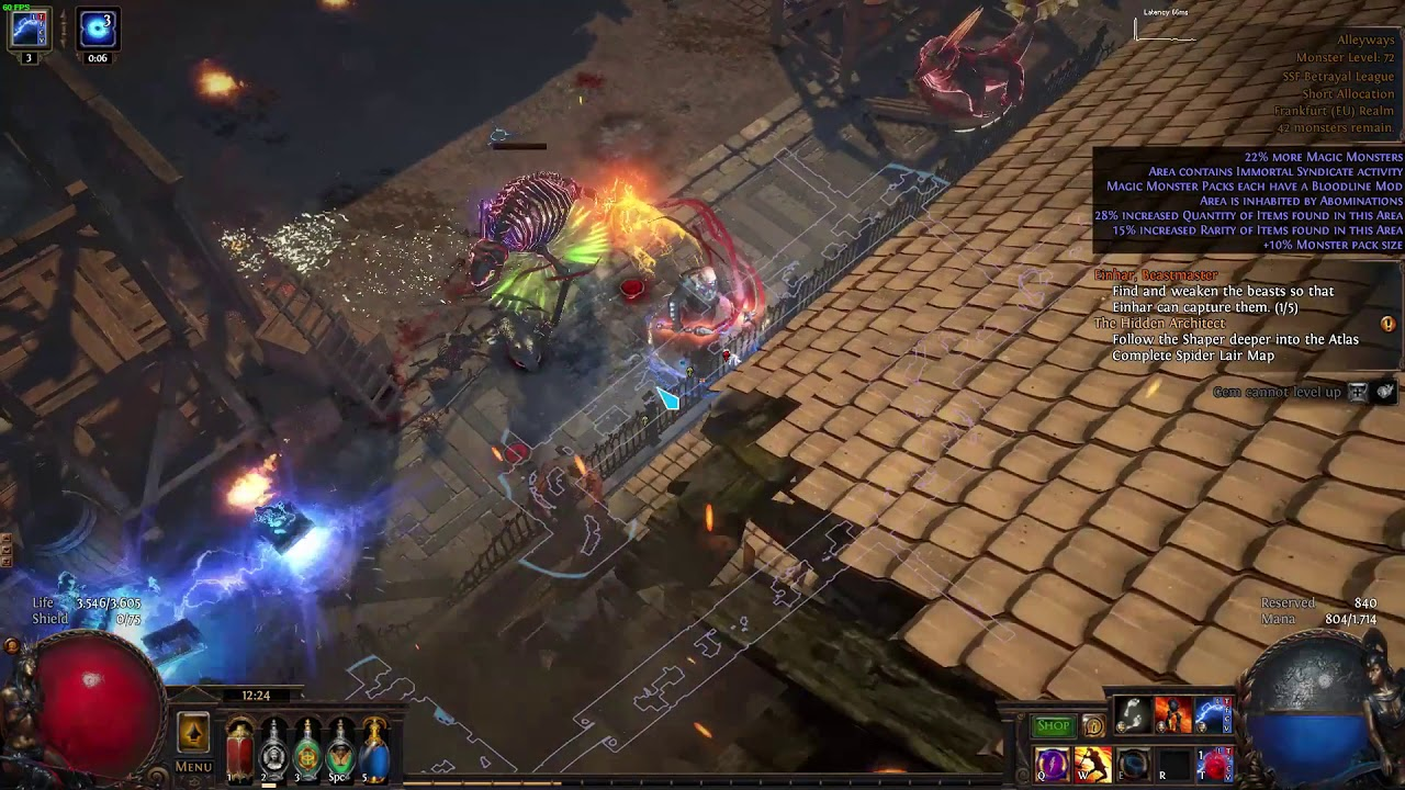 POE 3 5 - Einhar doesn't come to capture beasts