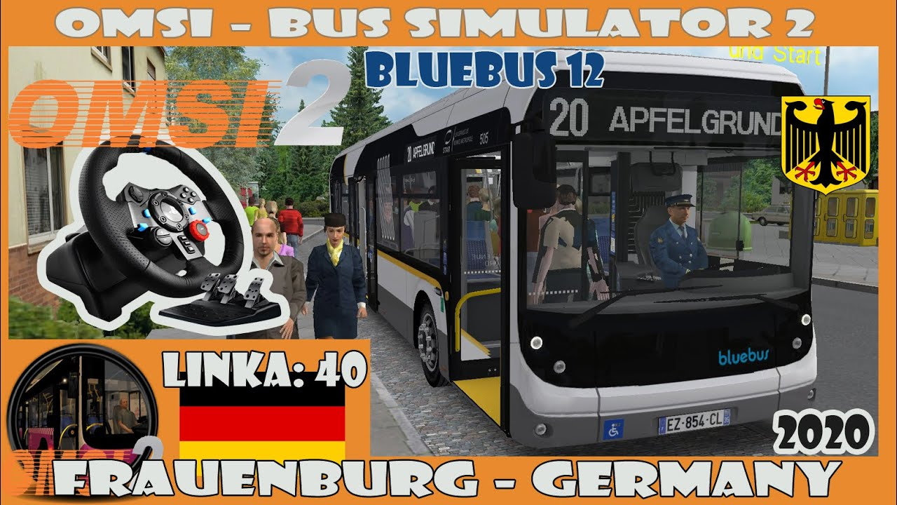 OMSI 2 (2020) - Frauenburg: 40 - (Bluebus 12 - electric) Logitech G29 (Germany)