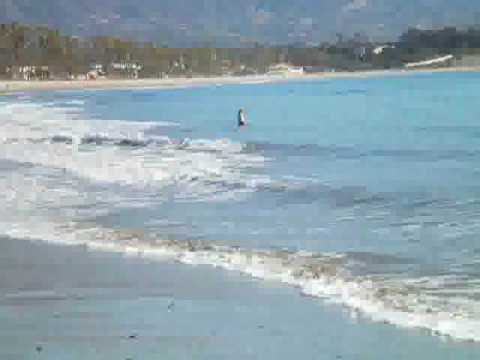 Sunday in January at the beach, Santa Barbara, California