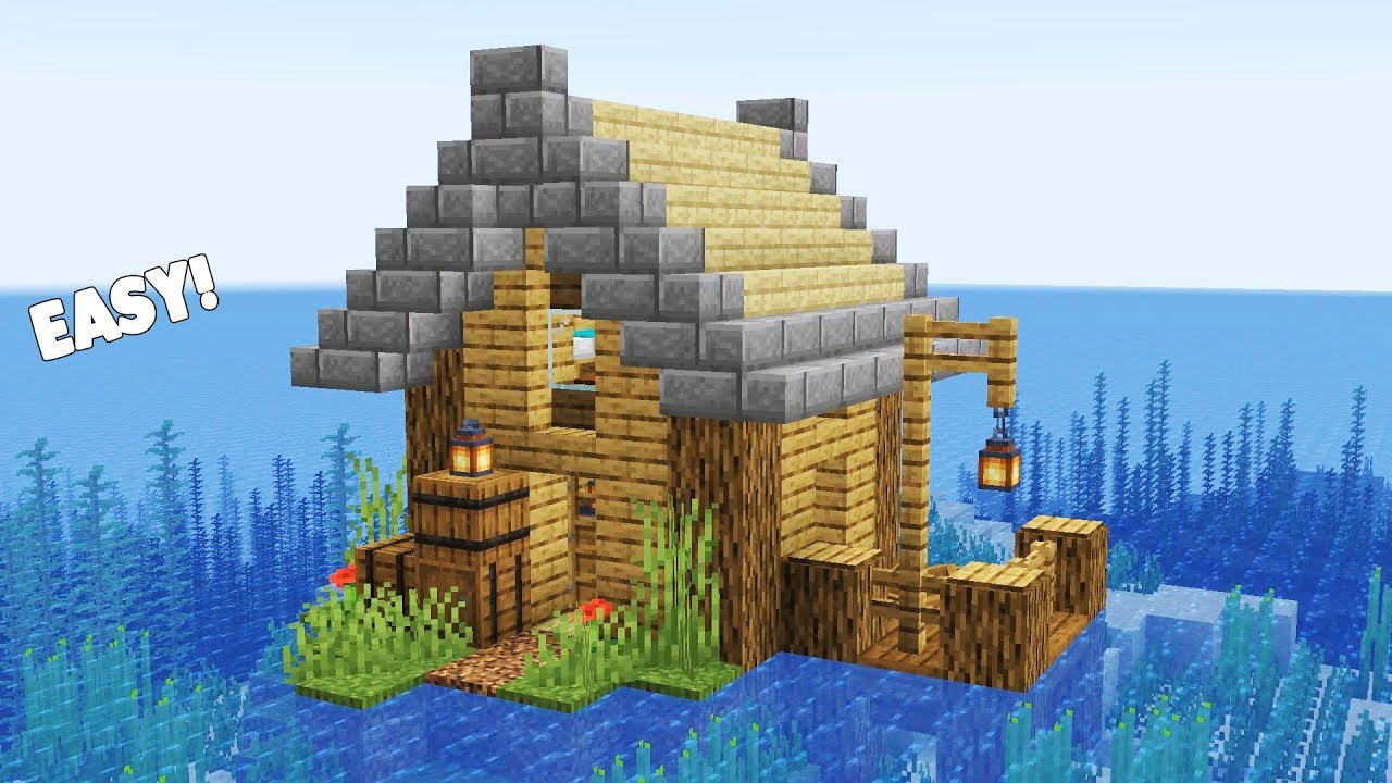 Fishing house in minecraft
