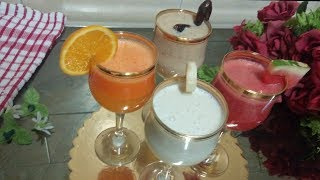 4 Types Healthy Juice Recipe | Simple Juice Recipe | Juice Recipe For Ramadan | Tasty Fruit Juice