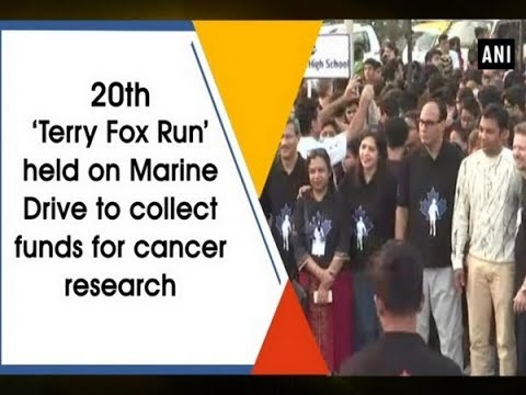 20th 'Terry Fox Run' held on Marine Drive to collect funds for cancer research