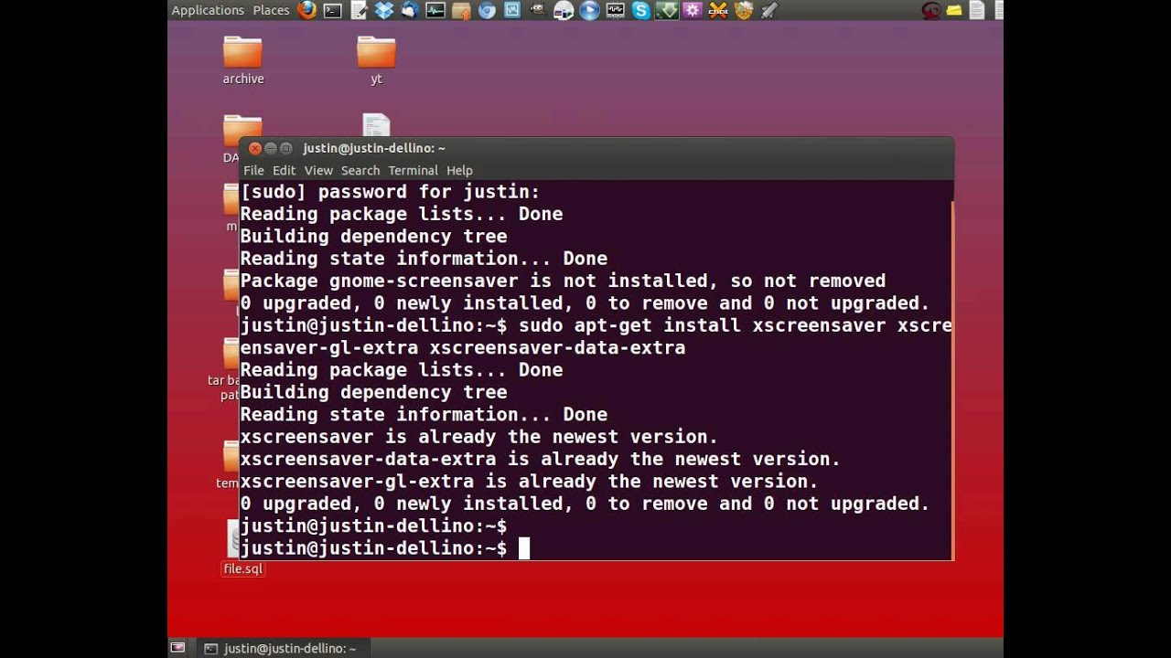 how to install the real screensaver in ubuntu
