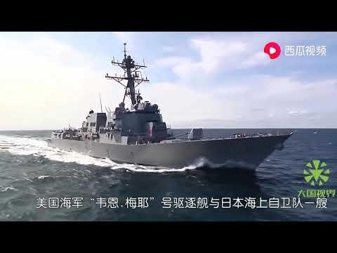 国产航母开赴南海,美日台军舰逼近跟踪,6架歼15挂导弹推上甲板